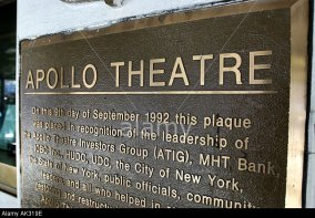 AK319E Apollo theater theatre NY Harlem sign Buildings horizontal